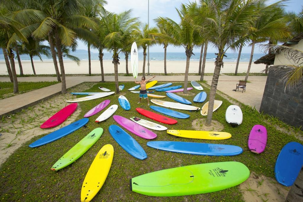 ダナンサーフィンビーチスタンドアップパドル観光